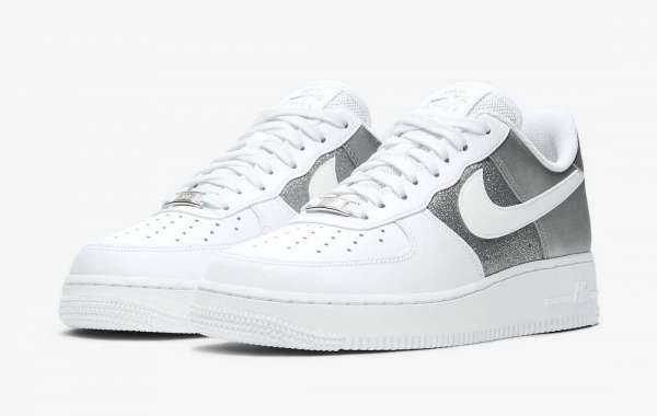 "DD6629-100 Nike Air Force 1 '07 ""White Metallic"" Sneakers To Buy In Jordansaleuk.com"